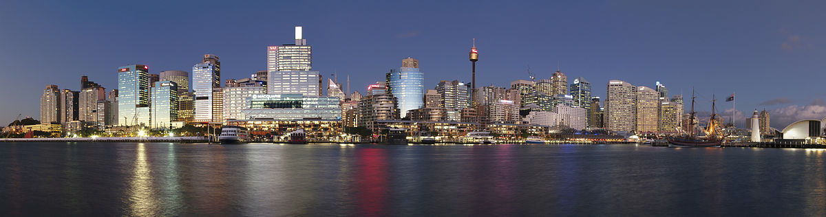 1200px Darling Harbour at Dusk